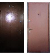 железные двери с бронепластинами