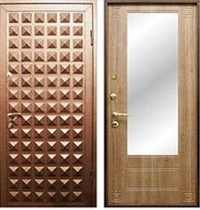 элитные металлические двери с зеркалом