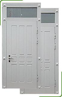 металлические двери с глухой фрамугой