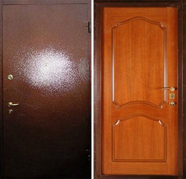 металлические двери порошок и мдф