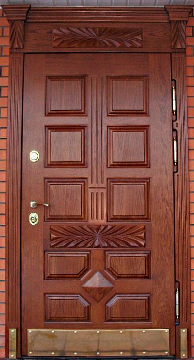 двери из массив дуба в котедж входная