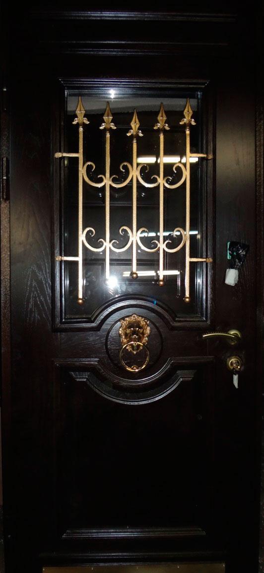 стальные двери со львом
