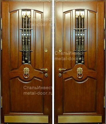 входные двери с решеткой внутри