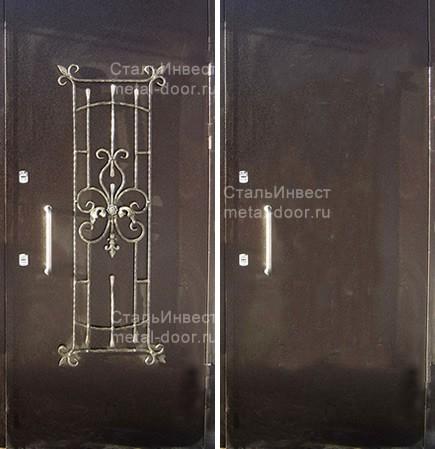 стальные двери порошковое напыление кованые элементы