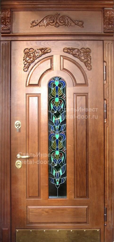 входные дверь с витражом