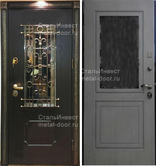 железная дверь шпон напыление