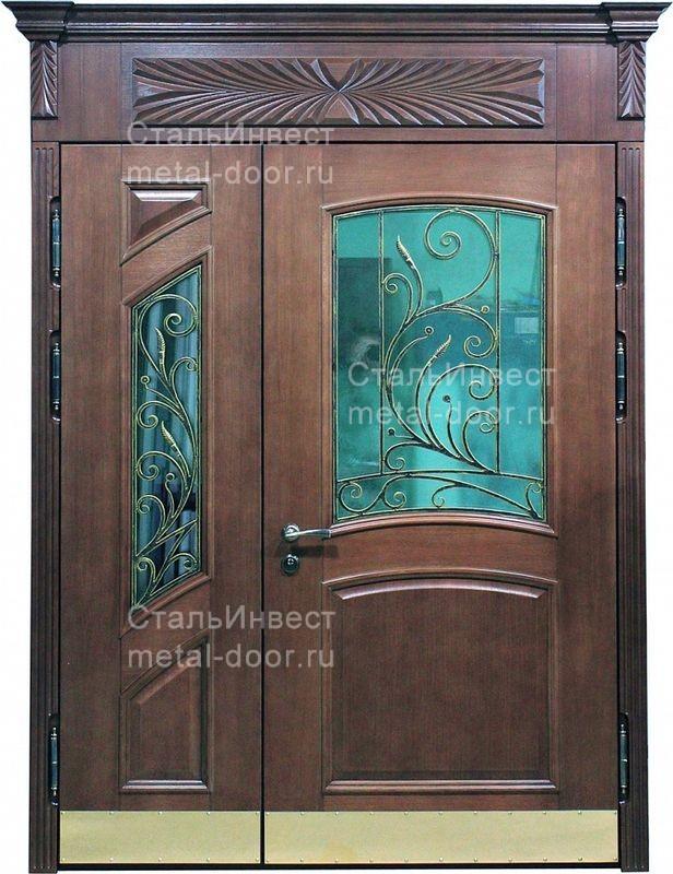 парадные двери металлические для загородного дома москва